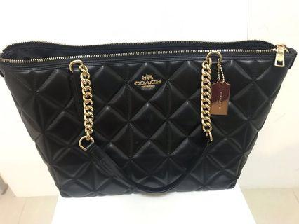 New Coach quilted bag