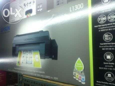 Epson L1300 A3 with dye pigment sublimation ink bundle on