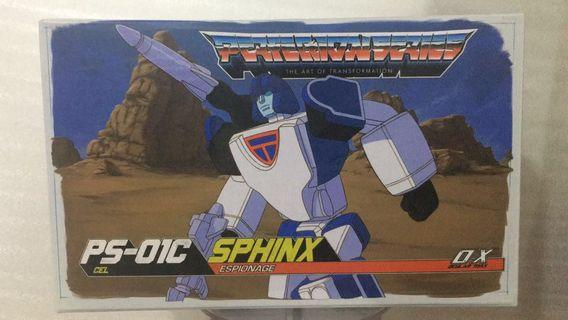 Transformers MMC Ocular Max - PS01C PS-01C Sphinx (Cel version) (aka Masterpiece Scaled Mirage) (MISB) plus One Free Autobot Dry Decal Sticker Sheet (Returned buyer gets $2 off)