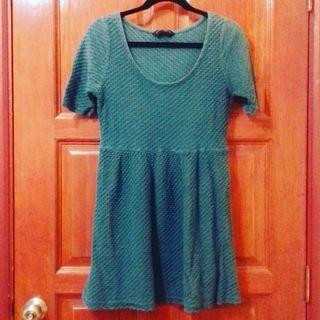(Plus Size) Dorothy Perkins Green Textured Midi Dress (UK 16)