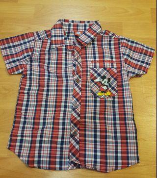 Mickey boy collar shirt