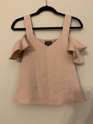 Topshop petite singlet pink size UK10