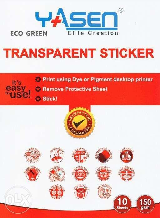 picture regarding Transparent Printable Vinyl titled Inkjet Shiny Vinyl Printable Sticker A4 White and