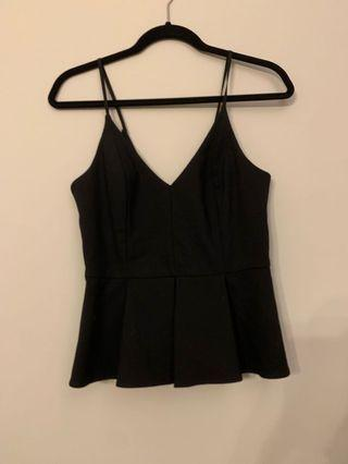 Topshop Black singlet with sup size UK10