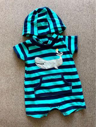🚚 Baby Romper with Hood
