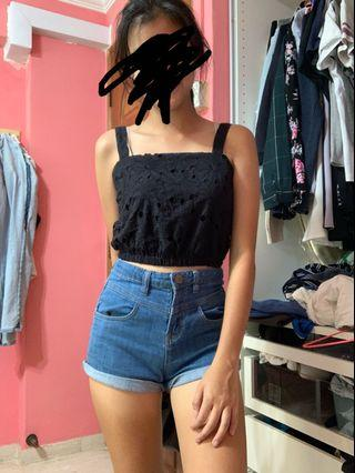 Cotton on crochet crop top