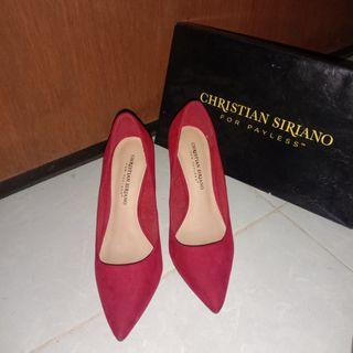 Christian Siriano Red Rojo Rouge Heels