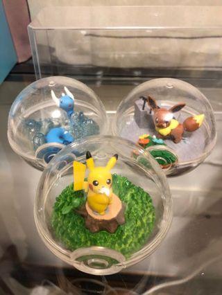 Banpresto Rement Pokemon Terrarium Eevee Dratini Pikachu