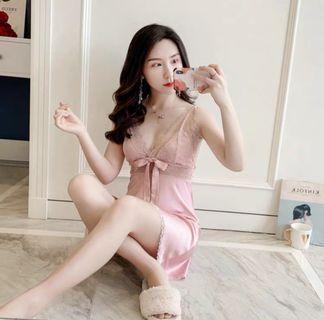 Pink lace sleepwear