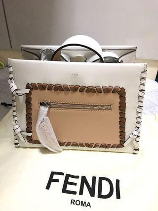 [100% new & real] Fendi Small Runaway Whipstitch Leather Tote Bag 斜揹 手挽 手袋