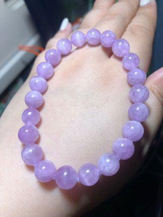 8.6mm 紫鋰輝 水晶 手串