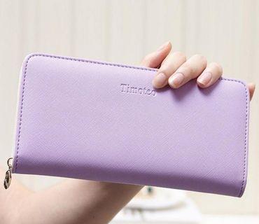 🚚 Light Pastel Purple Long Wallet