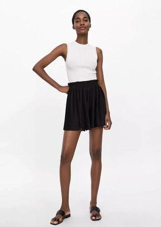 Zara 高腰短裙褲
