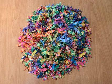 1000 Hand Folded Origami Paper Cranes