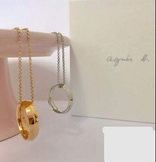 清 新 $300 Agnes B bijous 指環頸鏈 necklace ( 順豐到付 不面交)