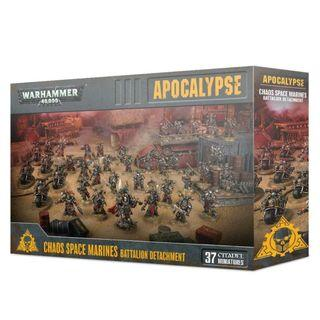 WARHAMMER 40K APOCALYPSE : CHAOS SPACE MARINES BATTALION DETACHMENT