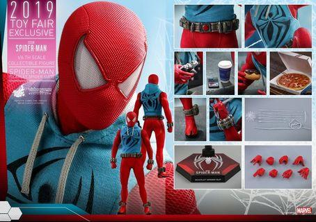 🚚 (RESERVED) Hot Toys Scarlet Suit Spider-Man 2019 Toy Fair Exclusive