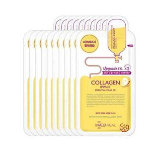 [Mediheal][Promotion]Collegen Impact Essiential Mask(10 Sheets)(buy 2 boxes get discount $4-can mix with other Mediheal mask at our store)Also random free 1 pcs mask per box