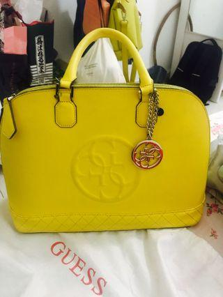 Guess bag yellow with long straps