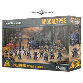 WARHAMMER 40K APOCALYPSE : SPACE MARINES BATTALION DETACHMENT