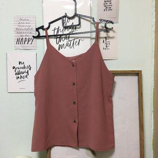 FLASH SALE: Strappy Button Down Top in Mauve