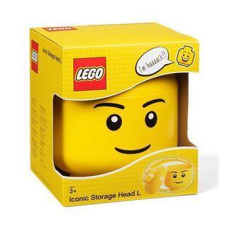 (100%新靚盒) LEGO Storage Head Small BOY S Container (LEGO®《男仔頭 儲物盒》) (樂高 積木)