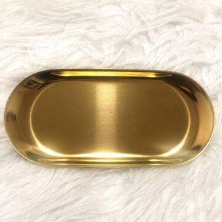 Gold metal deco tray