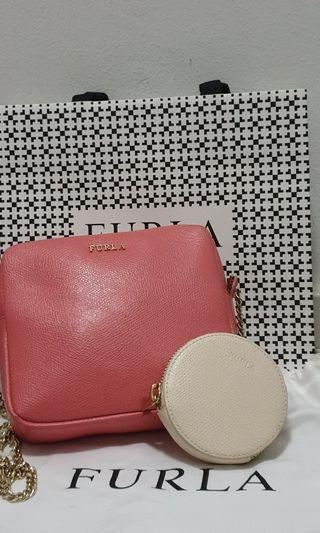 Furla sling bag with coin pouch