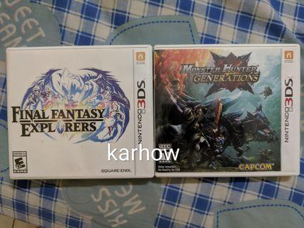 WTS N3DS / 3DS GAMES