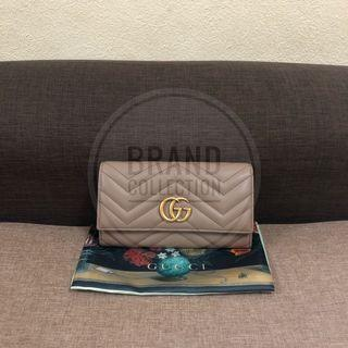 Authentic Gucci Marmont Wallet Nude