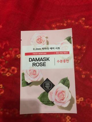 Etude House Sheet Mask (0.2MM THERAPY AIRMASK #DAMASK ROSE)