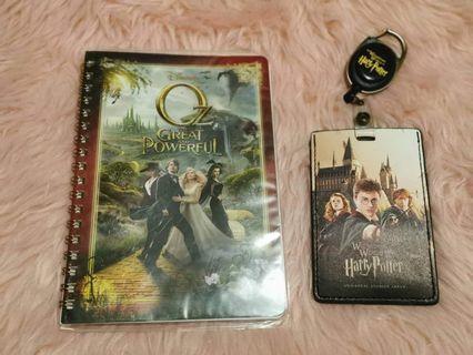 Universal Studios Harry Potter ID holder + Oz Notebook