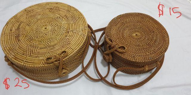 Handmade Lombok Rattan Bags