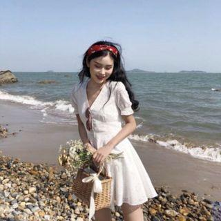 🚚 White Tea Dress