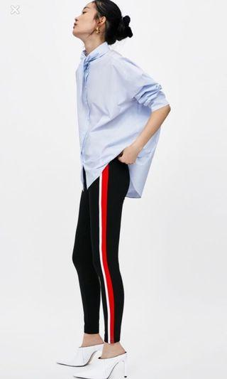 Zara side stripe leggings (S)