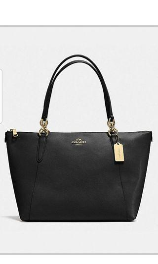 Brand New Coach Ava Tote with Zipper in Cross Grain Leather