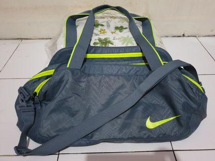 Tas Nike Original Duffle Gym Bag Grey - Lime