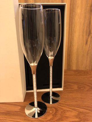 閃石香檳杯
