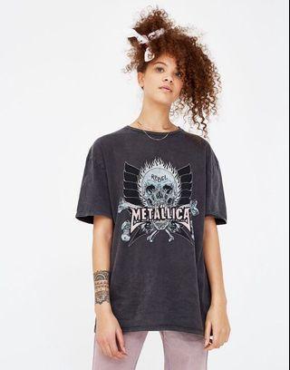 Pull and bear metallic tshirt