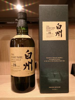 白州 18 日版 Hakushu 18 700ml japan version