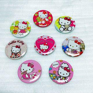 Hello Kitty Button Badge 8 In 1 Set Birthday Doorgift#Carousellbetter