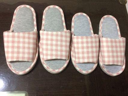 METIS 舒適室內拖鞋 大人/小孩 可當母女鞋  粉色