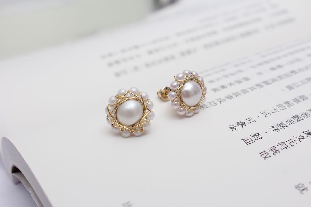 (全新)太陽花耳環
