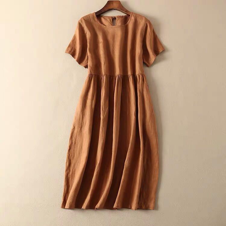 麻棉連身裙(包郵