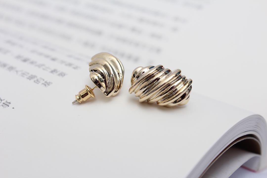 (全新)法國麵包耳環 925純銀