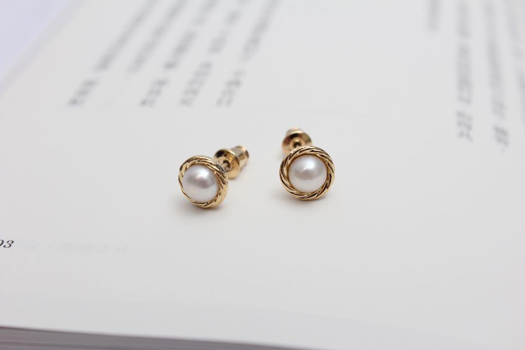 (全新)素雅珍珠耳環 925純銀