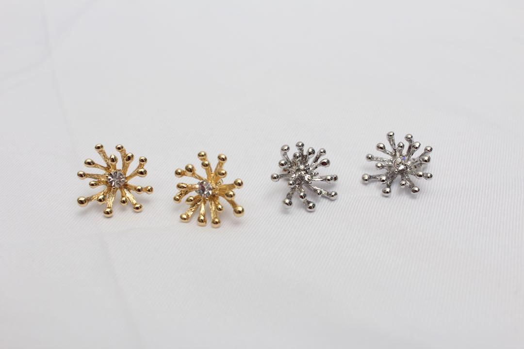(全新)花芯耳環 925純銀