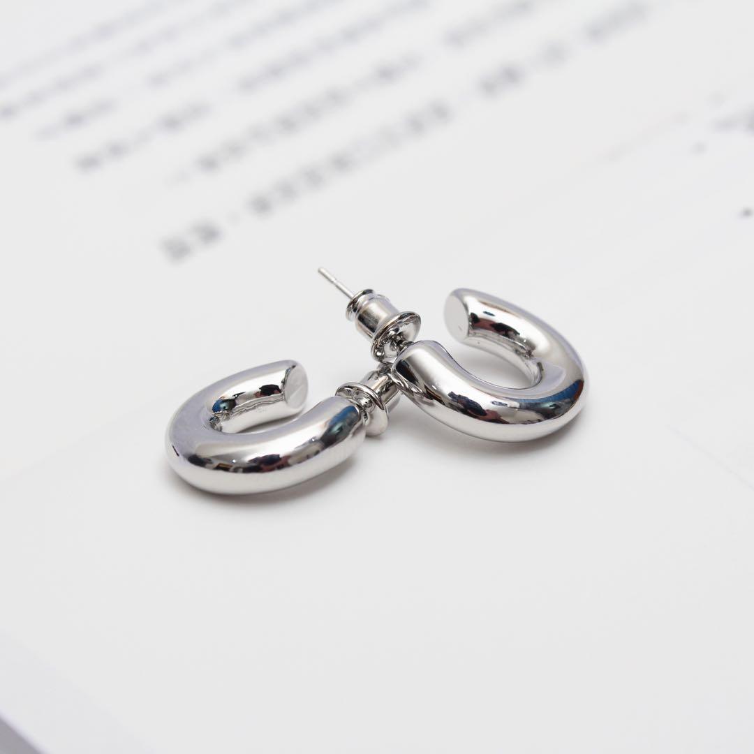 (全新)拐杖頭耳環 925純銀
