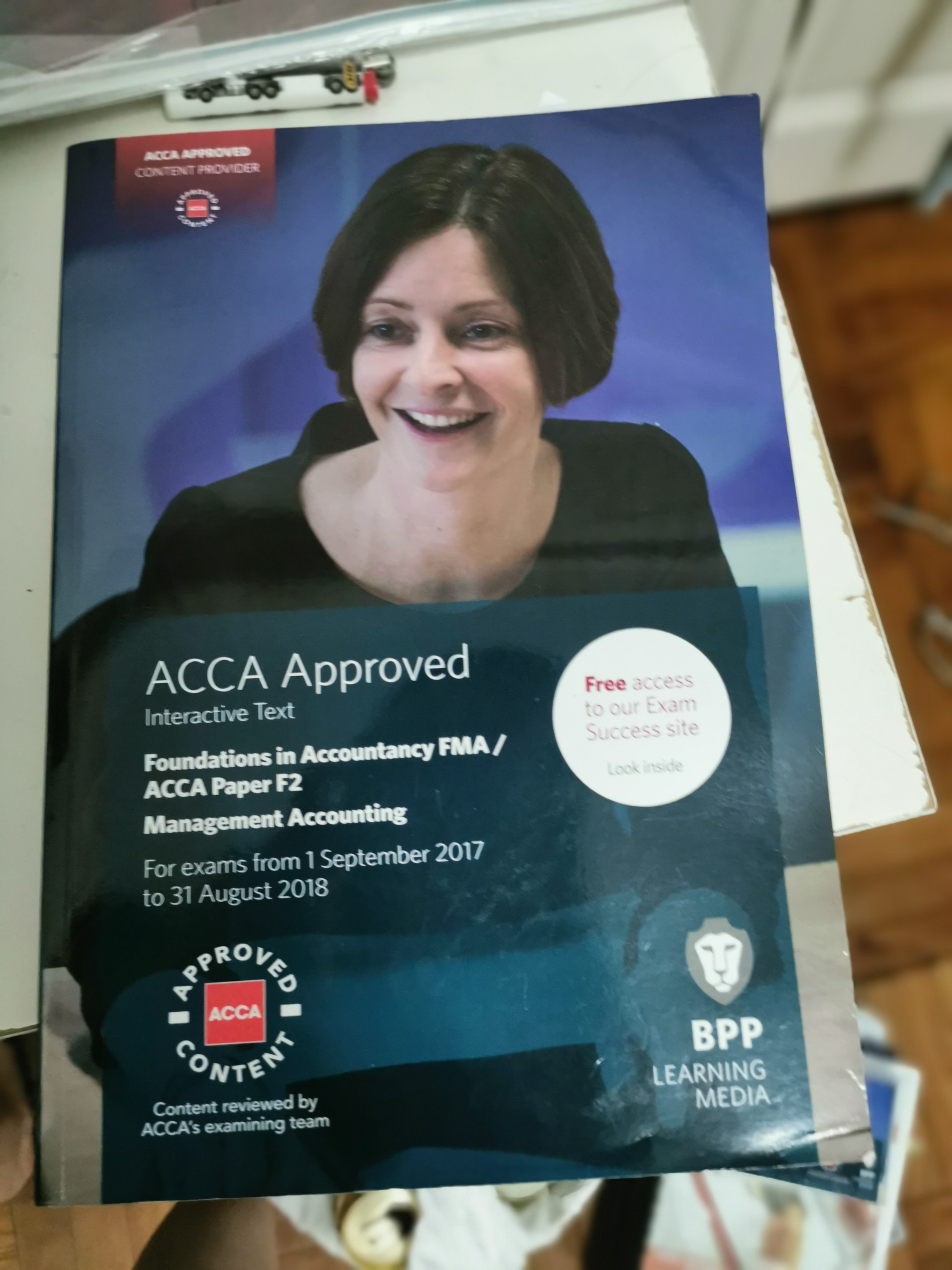 ACCA -F2 FMA- Management Accounting Text Book, excercise kit and SAA notes