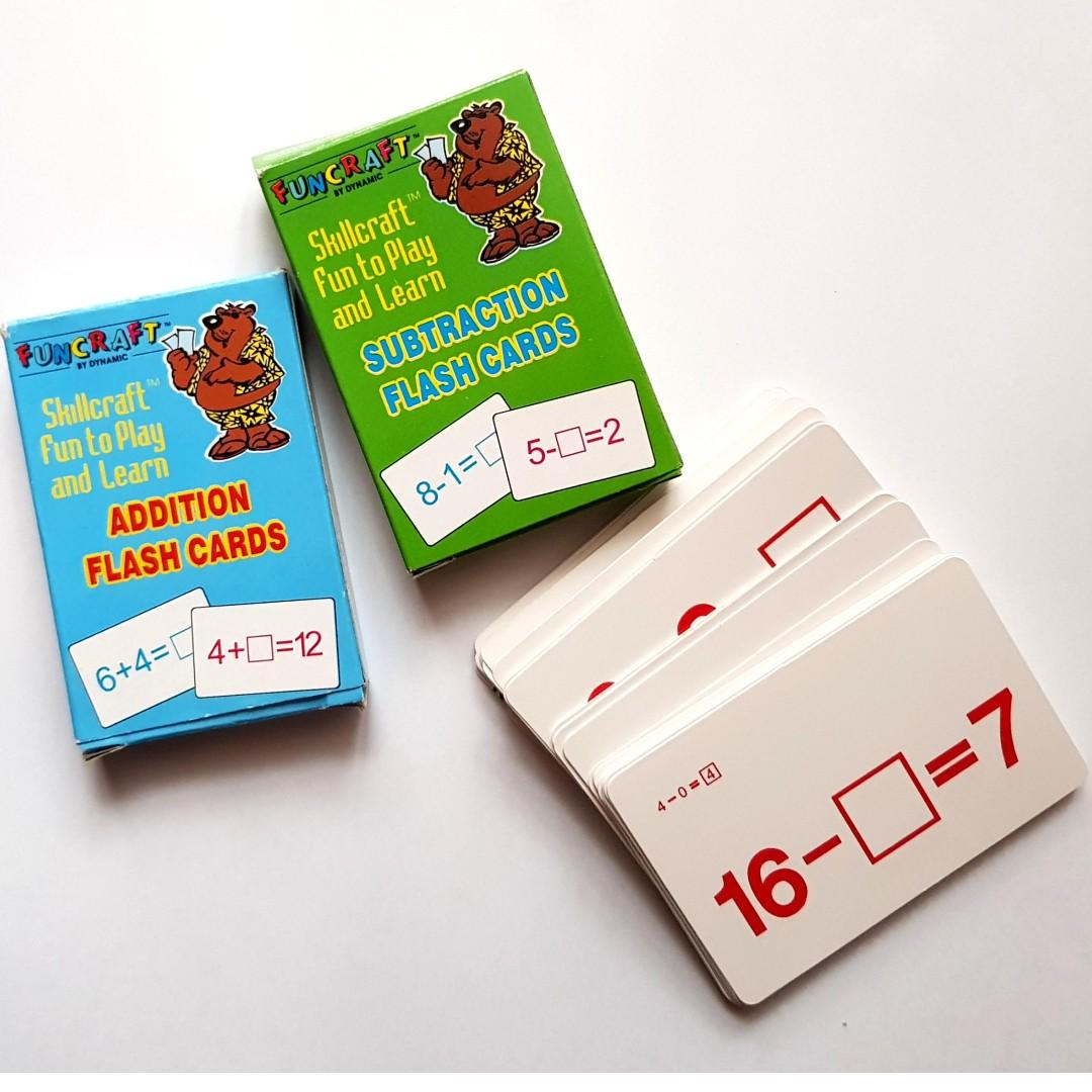 Addition and Subtraction Educational Game Cards for Kids